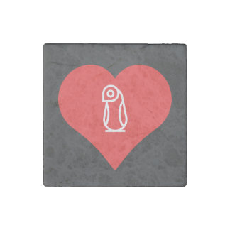 I Heart African Pinguins Stone Magnet