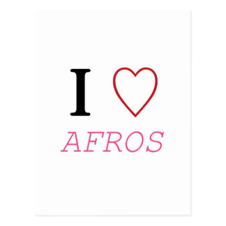 I Heart AFROS Post Card