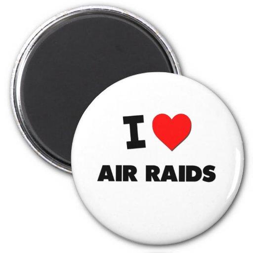 I Heart Air Raids Fridge Magnets
