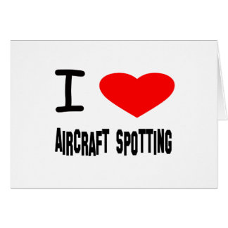 I Heart Aircraft Spotting Greeting Cards