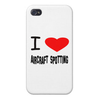 I Heart Aircraft Spotting Cover For iPhone 4