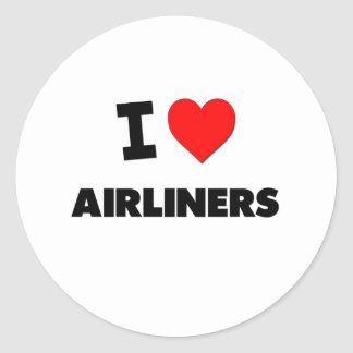I Heart Airliners Stickers