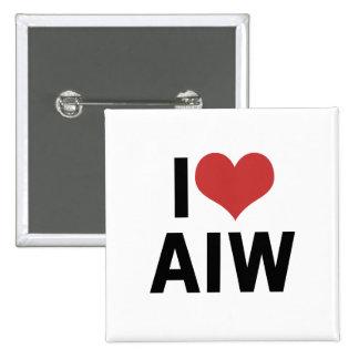 I Heart AIW 15 Cm Square Badge