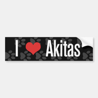 I (heart) Akitas Bumper Sticker
