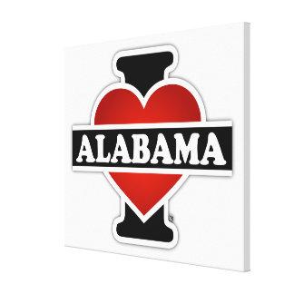 I Heart Alabama Gallery Wrap Canvas
