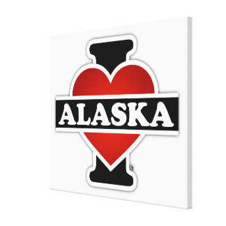 I Heart Alaska Gallery Wrapped Canvas