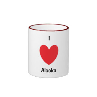 I Heart Alaska Mug Ringer Mug