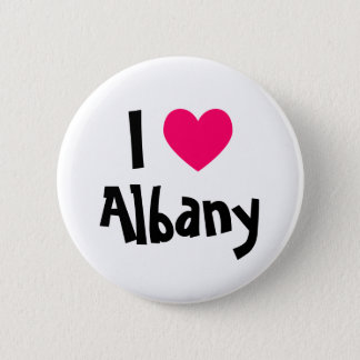 I Heart Albany 6 Cm Round Badge