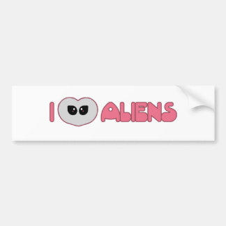 I Heart Aliens Bumper Sticker