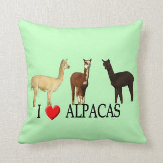 "I ""Heart"" Alpacas Cushion"