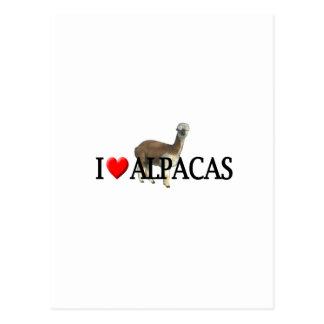 """I """"heart"""" alpacas post cards"""