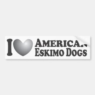 I Heart American Eskimo Dogs - Bumper Sticker
