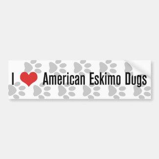 I (heart) American Eskimo Dogs Bumper Sticker