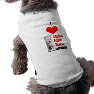 I (heart) American Eskimo Rescue Sleeveless Dog Shirt