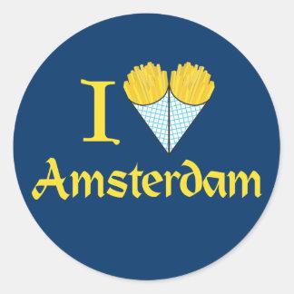 I Heart Amsterdam Round Sticker
