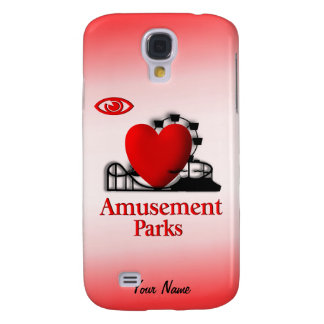 I Heart Amusement Parks Galaxy S4 Case