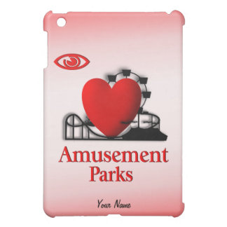 I Heart Amusement Parks /  Cover For The iPad Mini