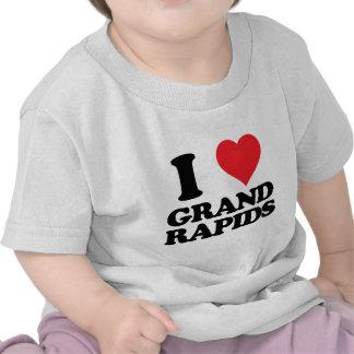 i heart and love grand rapids, michigan shirt