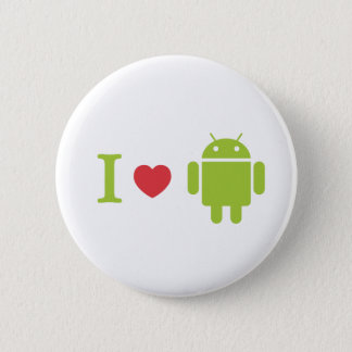 I heart Android 6 Cm Round Badge