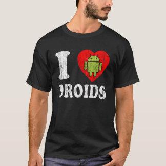 I HEART ANDROID LOVE DROID LOGO ROBOT SHIRT