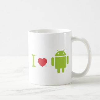 I heart Android Coffee Mugs