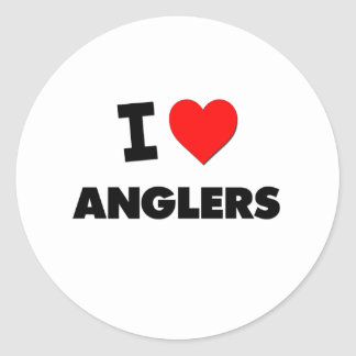 I Heart Anglers Round Stickers