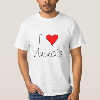 I heart animals tshirt