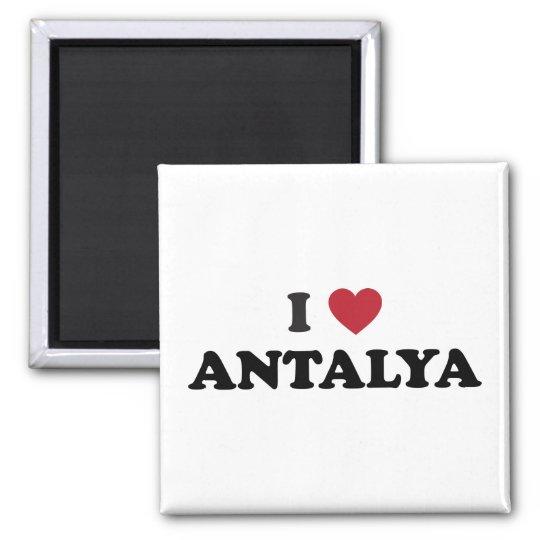 I Heart Antalya Turkey Square Magnet