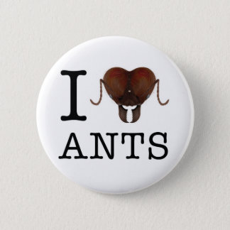 I heart ants button