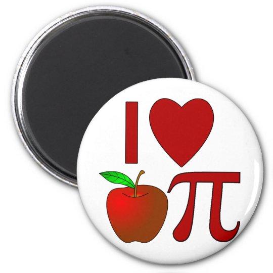 I Heart Apple Pi 6 Cm Round Magnet