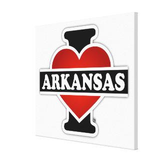 I Heart Arkansas Gallery Wrap Canvas
