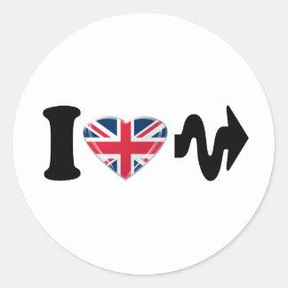 I Heart Arrow, Fun digital art Design Round Sticker