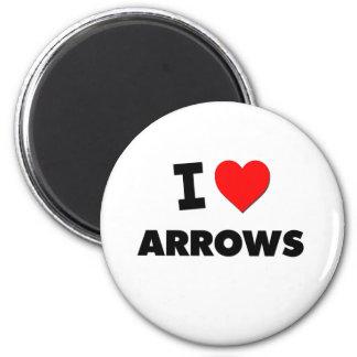 I Heart Arrows 6 Cm Round Magnet