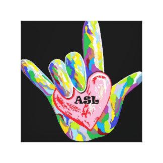 I Heart ASL Canvas Print