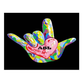 I Heart ASL Postcard