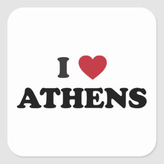 I Heart Athens Greece Square Sticker