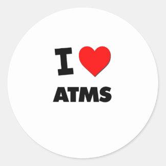 I Heart Atms Classic Round Sticker