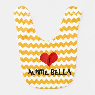i heart auntie bib personalised gift