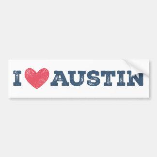 I Heart Austin Texas Bumper Sticker