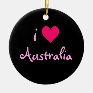 I Heart Australia Christmas Ornament