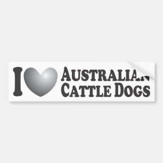 I Heart Australian Cattle Dogs - Bumper Sticker