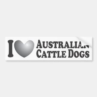 I Heart Australian Cattle Dogs - Bumper Sticker