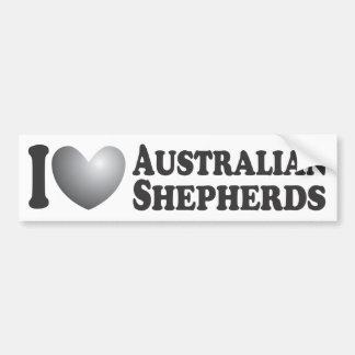 I Heart Australian Shepherds - Bumper Sticker