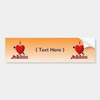 I Heart Autumn Bumper Sticker