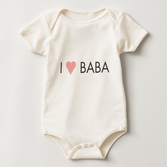 I HEART BABA and DEDO Baby Bodysuit