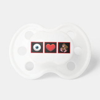 I HEART BABY SQUATCH BABY PACIFIER