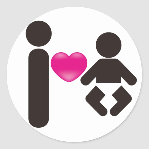 I Heart Baby Stickers