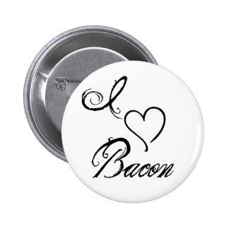 I Heart Bacon 6 Cm Round Badge