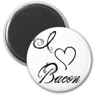 I Heart Bacon 6 Cm Round Magnet