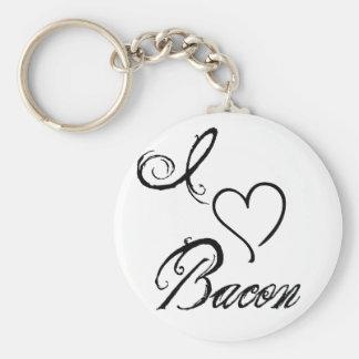 I Heart Bacon Basic Round Button Key Ring